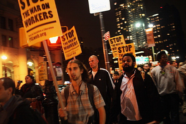 Occupy Wall Street Holds March In Solidarity With Occupy Oakland