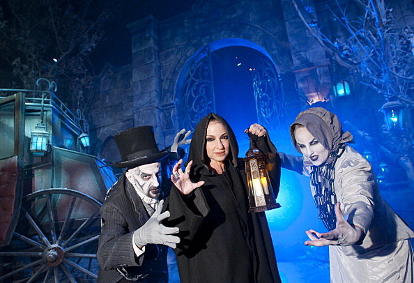 "Gloria Estefan Visits ""Winter's Night: The Haunting of Hawthorn Cemetery"" at Universal Orlando"
