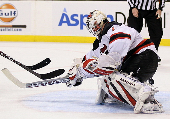 Johan Hedberg  of the New Jersey Devils