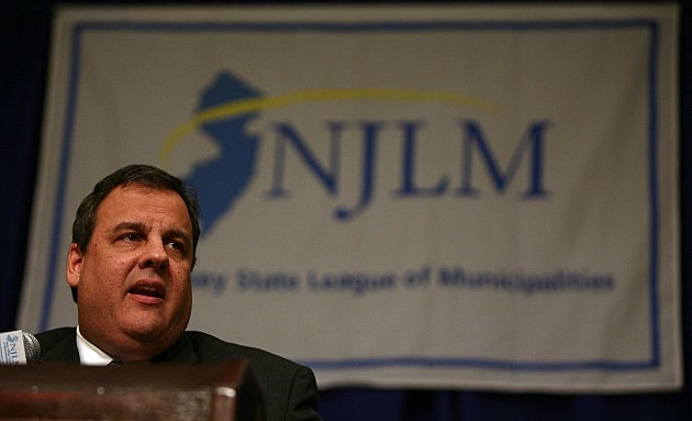Governor Chris Christie speaks at the New Jersey State League of Municipalities 96th Annual Conference Luncheon