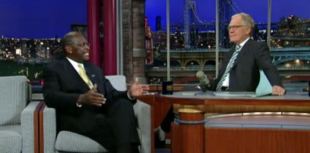 Herman Cain with David Letterman