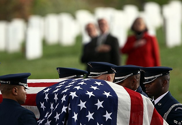 Military Burial Held At Arlington Nat'l Cemetary