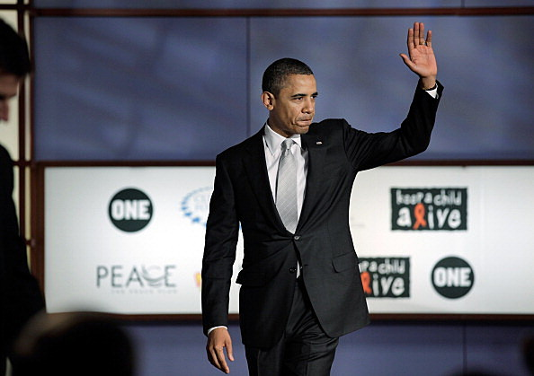 President Obama Participates In World AIDS Day Discussion At George Washington University
