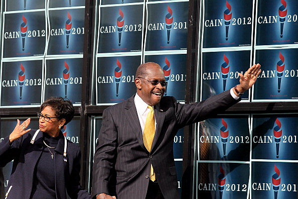GOP Presidential Candidate Herman Cain Makes Campaign Announcement In Atlanta
