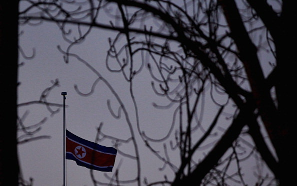 North Korean Flag Flies At Half Mast Following Death of Kim Jong-Il