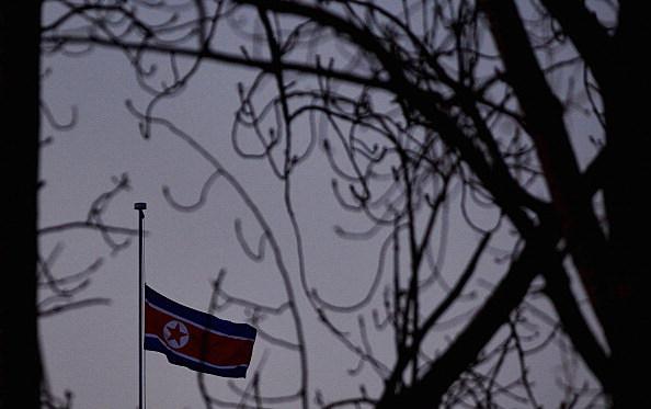 North Korean Flag Flies At Half Mast Following Death of Kim Jong-Il