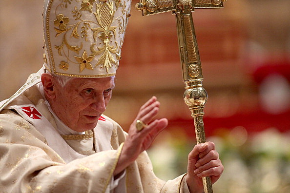 Pope Benedict XVI Celelebrates Christmas Night Mass