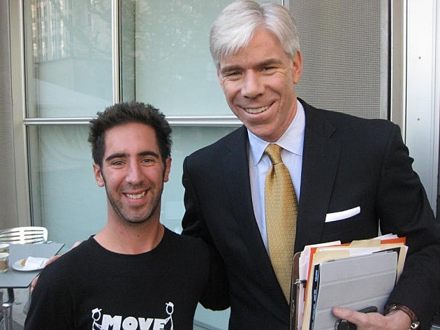 Adam Lowy with NBC's David Gregory