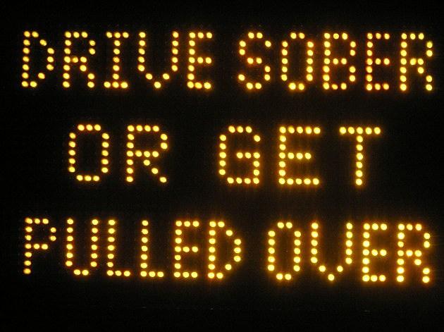 drive sober sign
