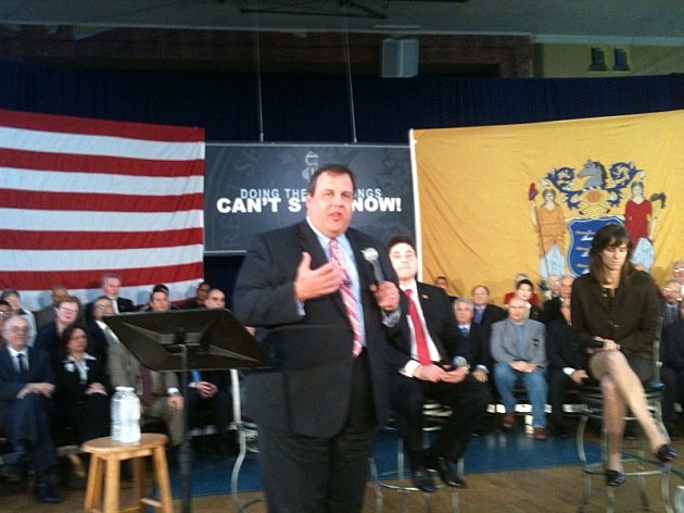 Governor Christie at Town Hall in West New York