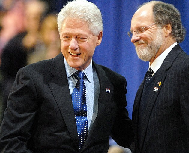 Jon Corzine and Bill Clinton