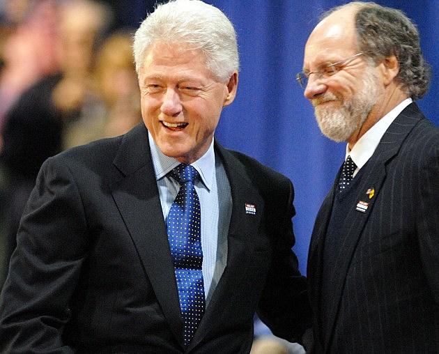 Jon Corzine and Bill Clinton