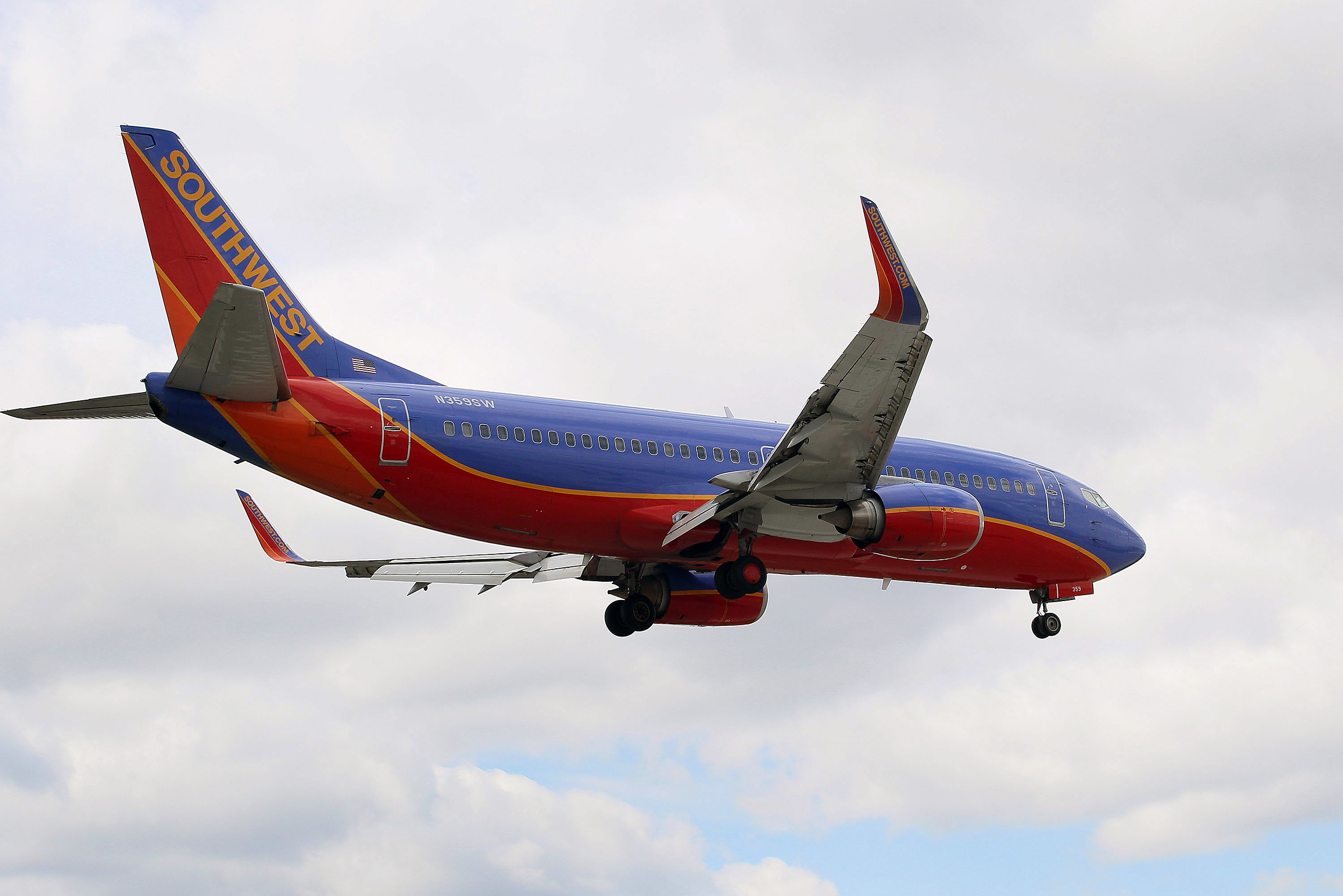 Southwest airlines flight erted to okla city