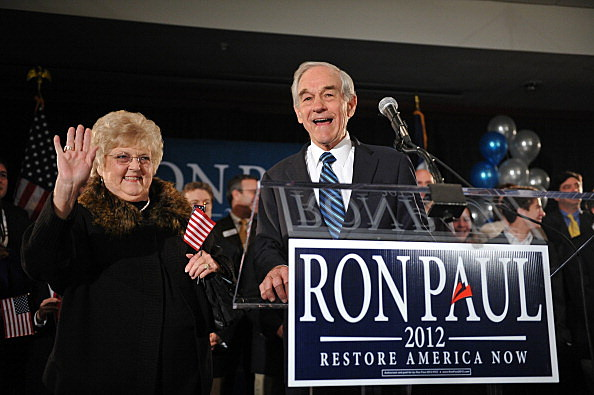 Rep. Ron Paul (R-TX) and his wife, Carol