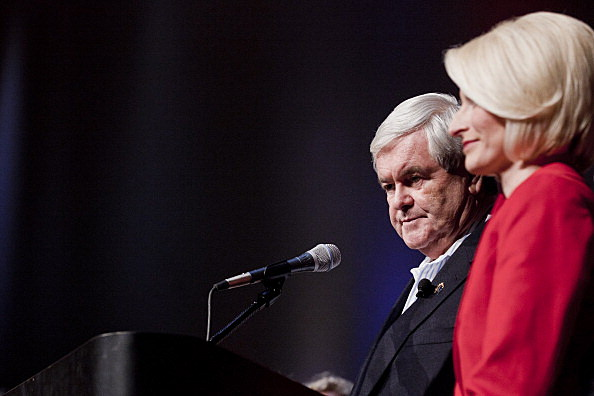 Newt Gingrich with his wife Callista