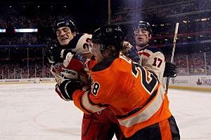 2012 Bridgestone NHL Winter Classic, Rangers vs. Flyers