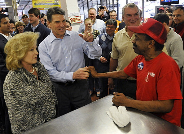 Rick Perry campaigns in South Carolina.