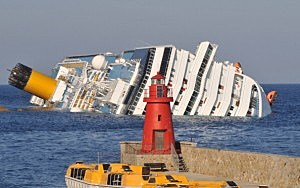 Cruise Ship Costa Concordia Runs Aground Off Gigli