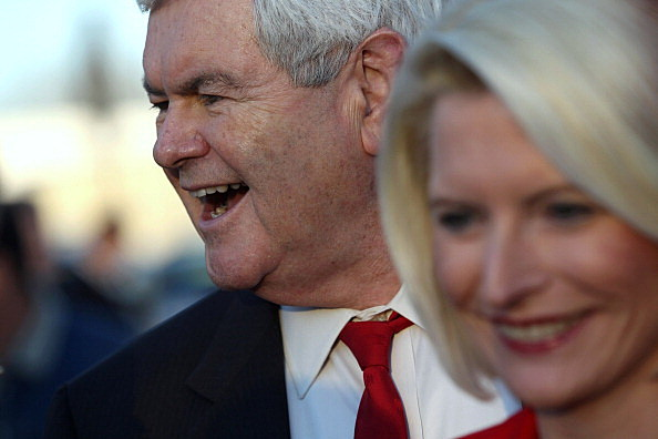 Newt Gingrich Holds Town Hall At BBQ Restaurant In SC