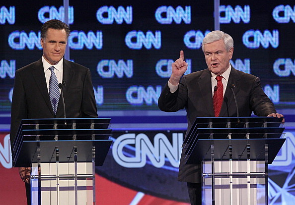 Mitt Romney & Newt Gingrich at South Carolina GOP Debate