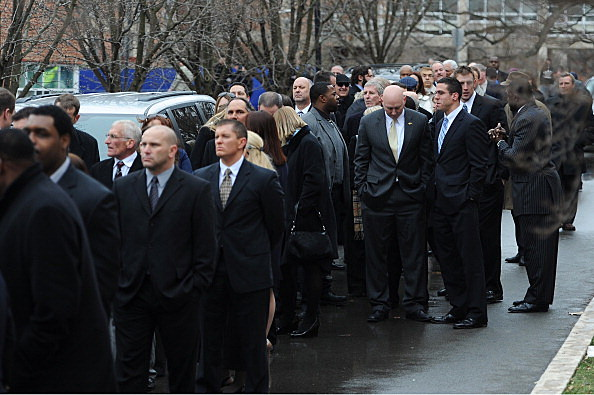 Mourners for Joe Paterno