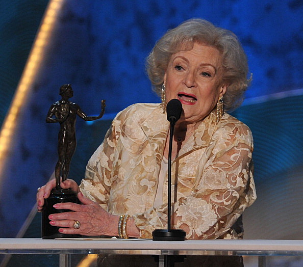 Betty White accepts the Outstanding Performance by a Female Actor in a Comedy Series award for 'Hot In Cleveland'