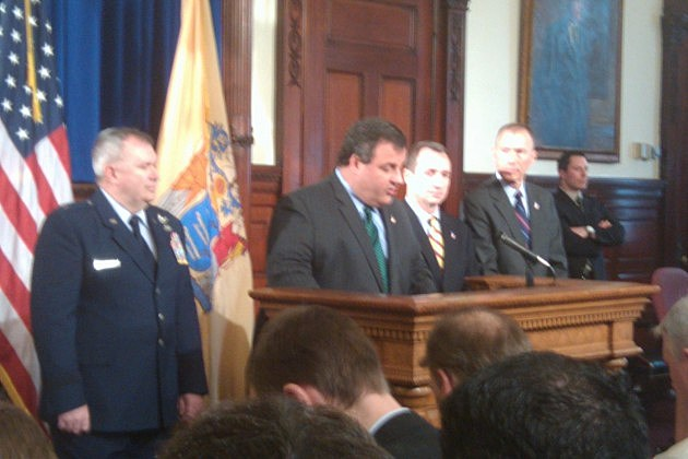 Governor Christie press conference announcing cabinet changes
