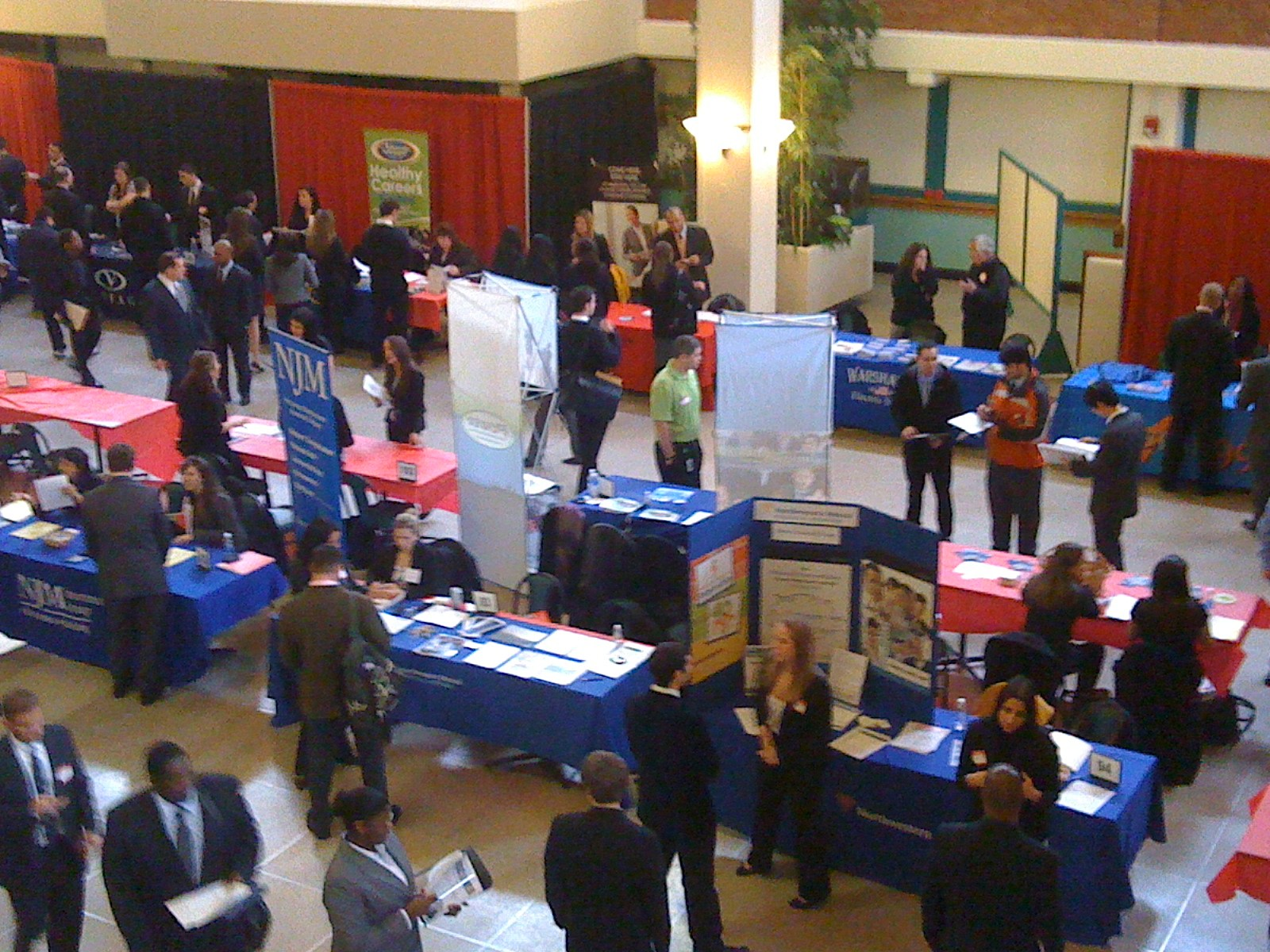 job fair packed as college grads look for work
