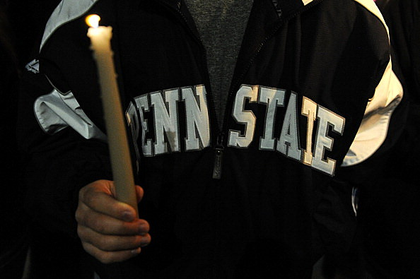 Penn State Students Hold Candle Light Vigil For Abused Victims