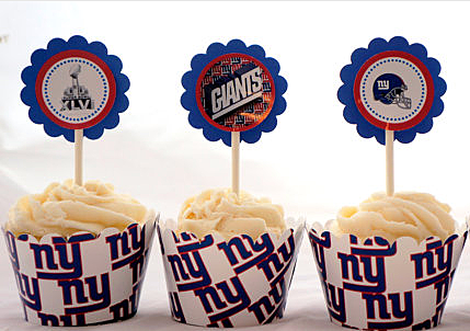 Giants Cupcakes