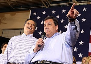 Governor Chris Christie and Mitt Romney