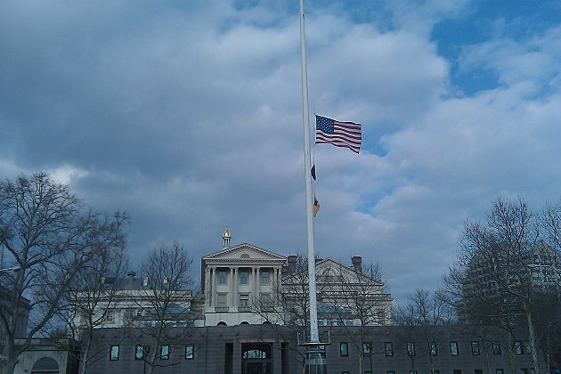 half-staff for DeCroce