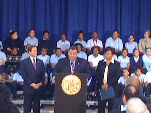 Senator Norcross, Governor Christie, Mayor Dana Redd