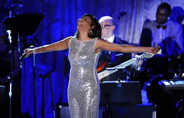 Whitney Houston at the 2011 Pre-GRAMMY Gala and Salute To Industry Icons Honoring David Geffen ( Kevork Djansezian/Getty Images)