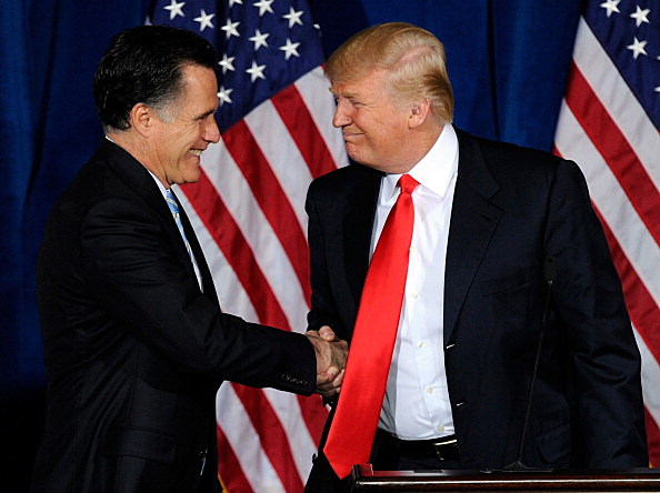 Donald Trump endorses Mitt Romney