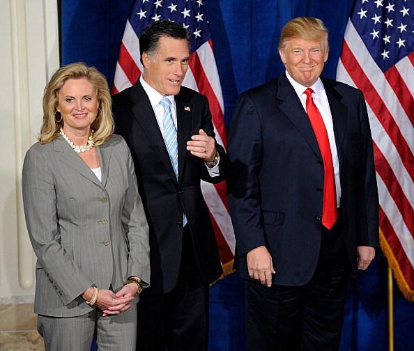 Donald Trump endorses Mitt Romney in Las Vegas