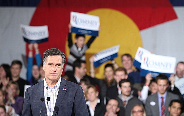 Mitt Romney rally after Colorado caucuses