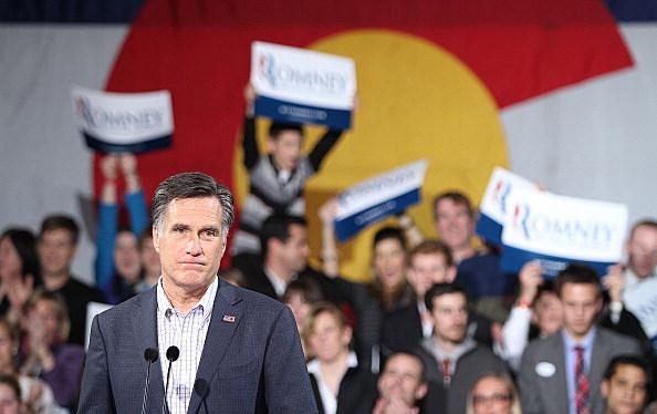 Mitt Romney rally after Colorado caucuses