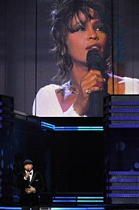 Host LL Cool J pays tribute to singer Whitney Houston