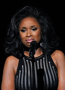 Jennifer Hudson performs during a memoriam for Whitney Houston onstage at the 54th Annual Grammy  Awards