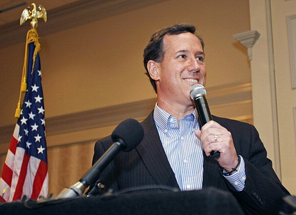 Rick Santorum campaigns in Michigan