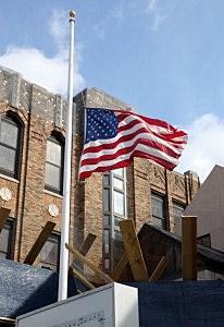 flag at half staff