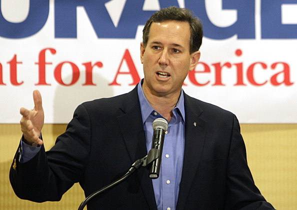 Rick Santorum campaigning in Ohio