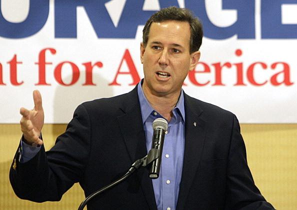 Rick Santorum campaigning in Ohio