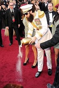 Sacha Baron Cohen arrives at the Academy Awards