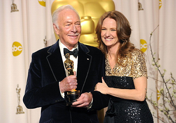Christopher Plummer (L) with Melissa Leo