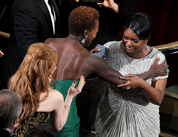 Actresseses Jessica Chastain, Viola Davis and Octavia Spencer