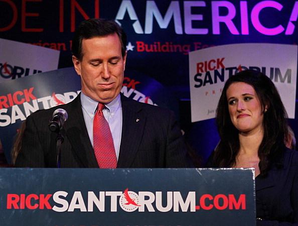 Rick Santorum in Michigan following primary loss