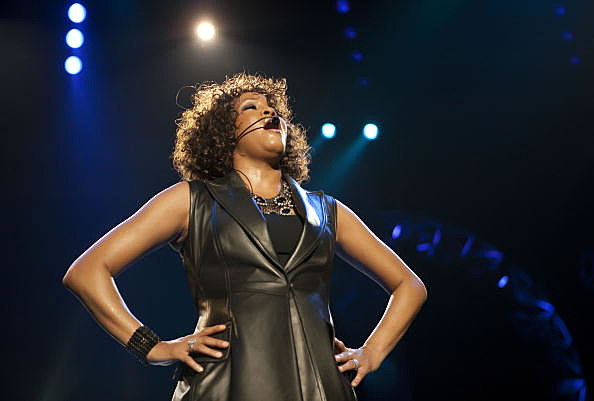 Whitney Houston in concert in Berlin in 2010
