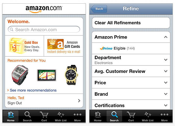 Amazon Mobile iPhone App